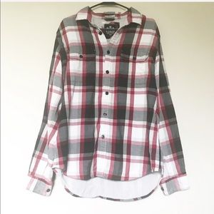 Express - Plaid Flannel Button Down Top